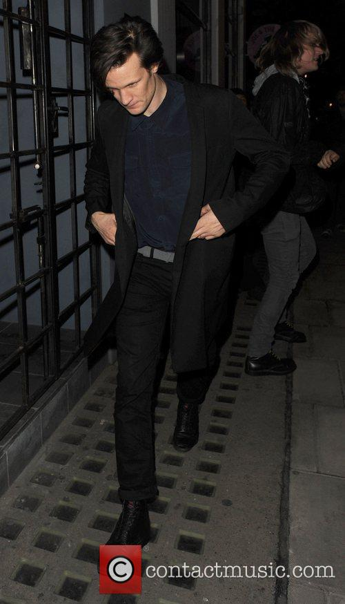 Matt Smith leaves the Groucho club London, England