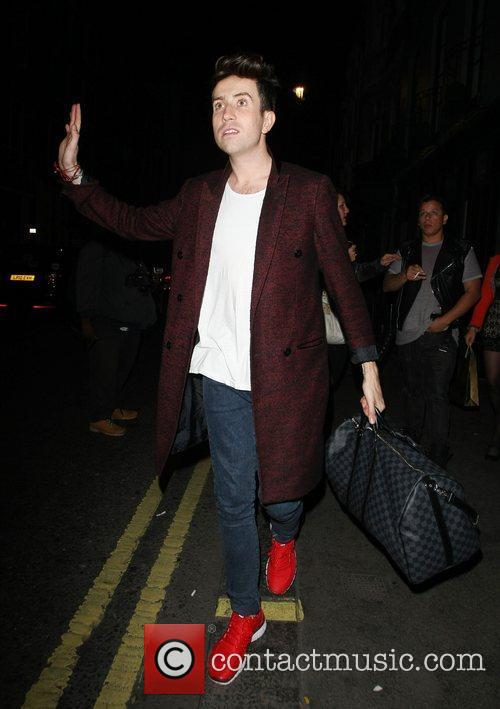 Nick Grimshaw outside the Groucho Club London, England