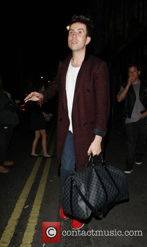 nick grimshaw outside the groucho club london 4058674