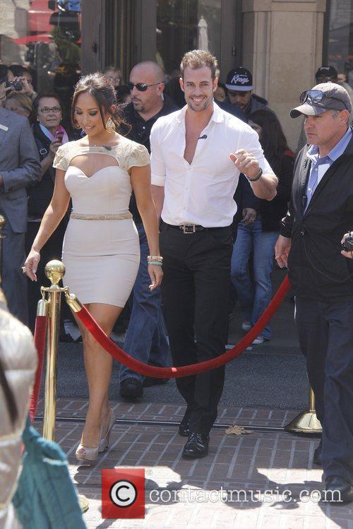 William Levy and Cheryl Burke Celebrities at The...
