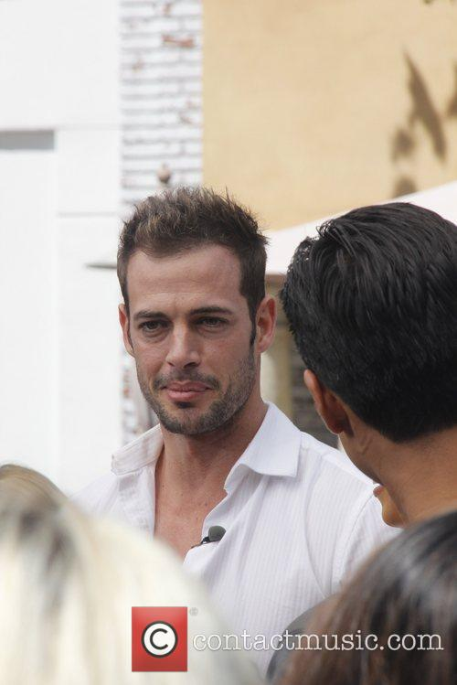 William Levy  Celebrities at The Grove to...