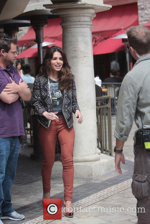 Sarah Shahi Celebrities at The Grove to appear...