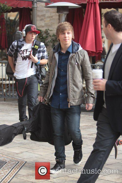 X Factor Celebrities arrive at 'Extra' at The...