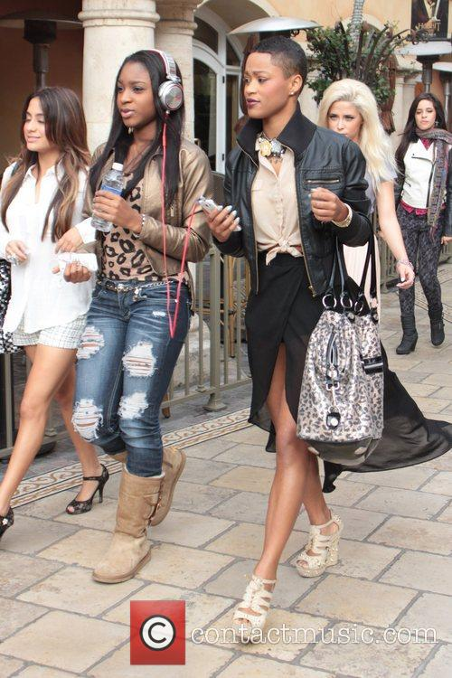 Paige Thomas X Factor Celebrities arrive at 'Extra'...