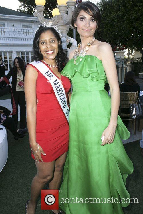 Miss Maryland, Dr. Sedrati Miss America contestants attend...