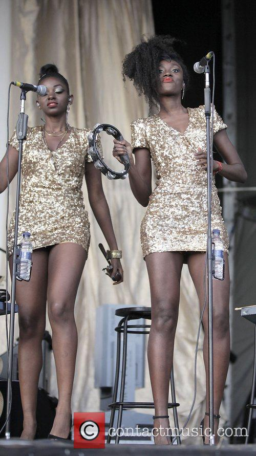 Bryan Ferry's backing singers performing at GuilFest 2012...