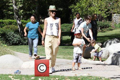 Gwen Stefani and Zuma Rossdale enjoy the afternoon...