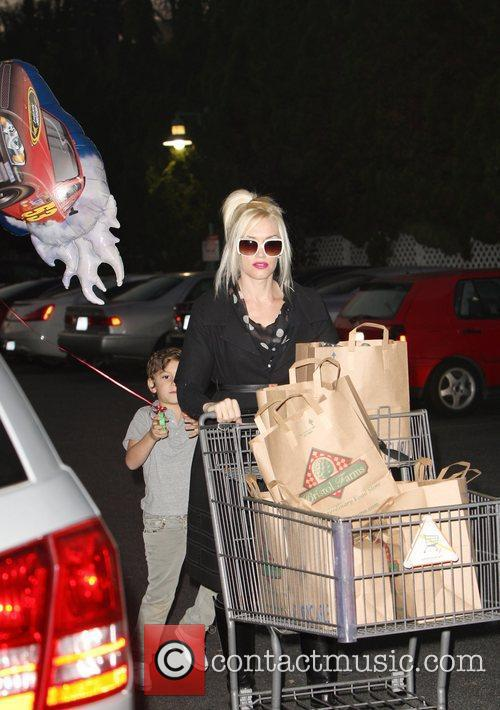 Gwen Stefani and her son Kingston Rossdale leaving...