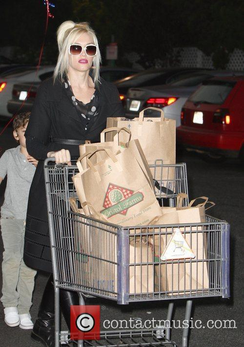 Gwen Stefani leaving Bristol Farms after shopping for...
