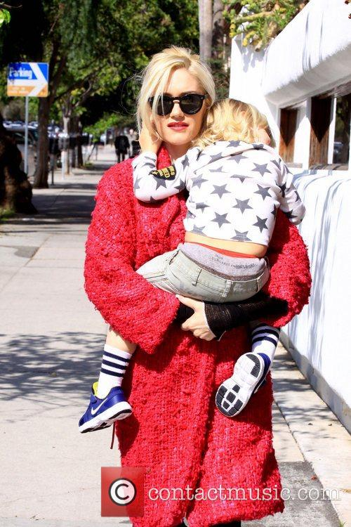 Gwen Stefani, Zuma Rossdale Gwen Stefani spends the...