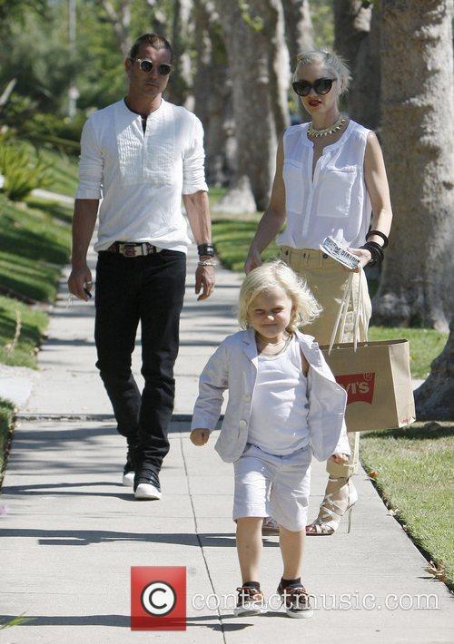 Gwen Stefani, Gavin Rossdale and Zuma Rossdale arrive...