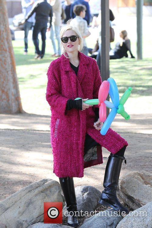 Gwen Stefani spends the day at a children's...
