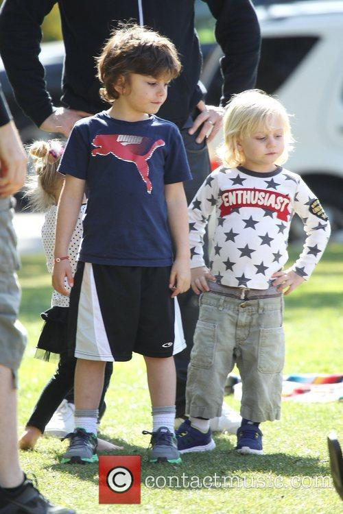 Gwen Stefani's sons Kingston Rossdale and Zuma Rossdale...