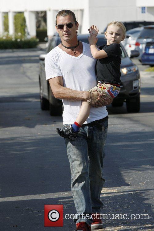 Zuma Rossdale and Gavin Rossdale At Shawn's pumpkin...