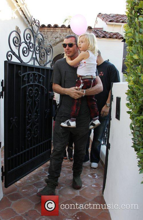 Gavin Rossdale and his son Zuma Rossdale leaving...
