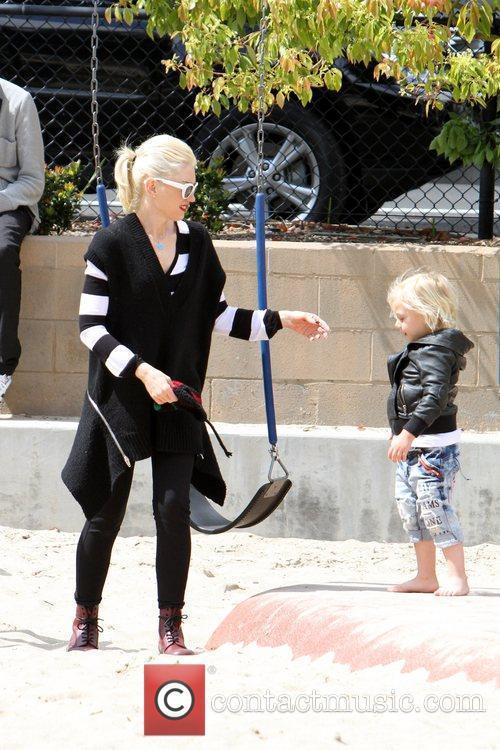 Gwen Stefani, Zuma Rossdale Gwen Stefani takes her...