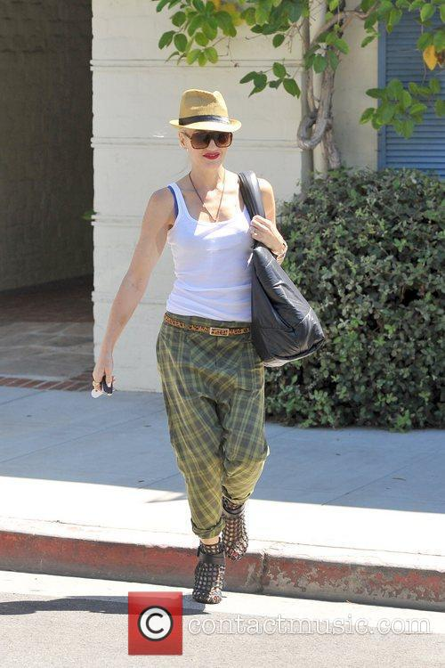 Gwen Stefani is seen leaving a medical office...