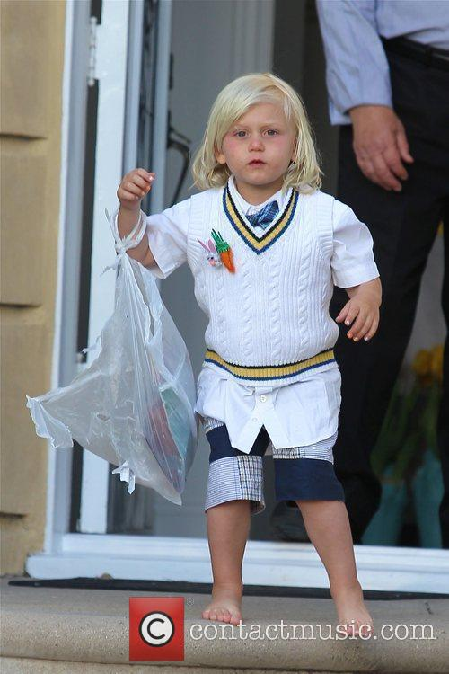 Zuma Rossdale leaves at his grandparents house dressed...