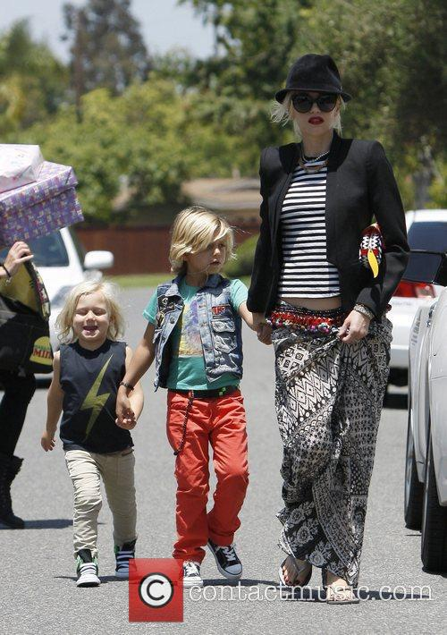 Gwen Stefani takes her sons Kingston and Zuma...