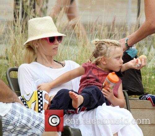 Gwen Stefani and Zuma Rossdale enjoy the day...