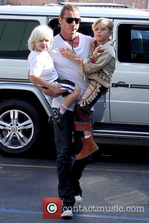 Gavin Rossdale, Zuma Rossdale and Kingston Rossdale 2