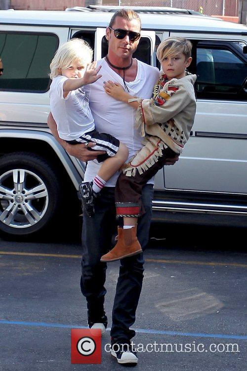 Gavin Rossdale, Zuma Rossdale and Kingston Rossdale 1