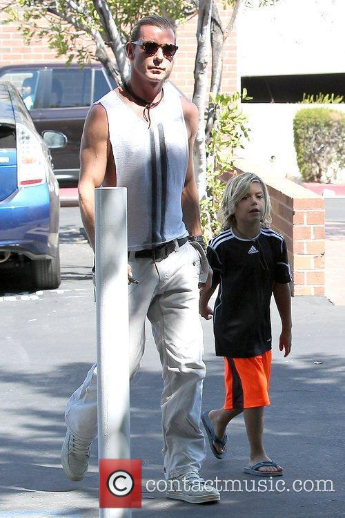 Gavin Rossdale and son Kingston Rossdale arrive at...