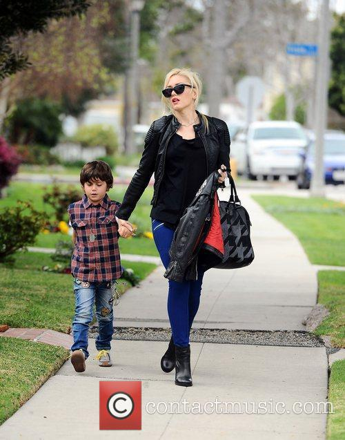 Gwen Stefani and her son Kingston Rossdale head...