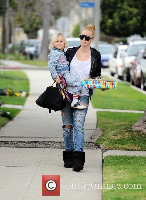 Gwen Stefani and her son Zuma Rossdale head...