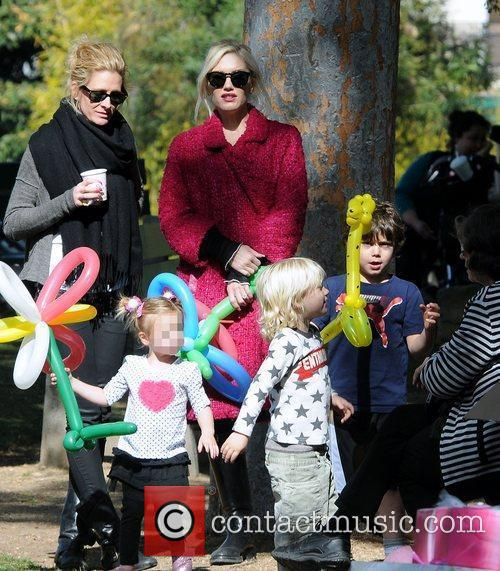Gwen Stefani and sons Kingston Rossdale and Zuma...