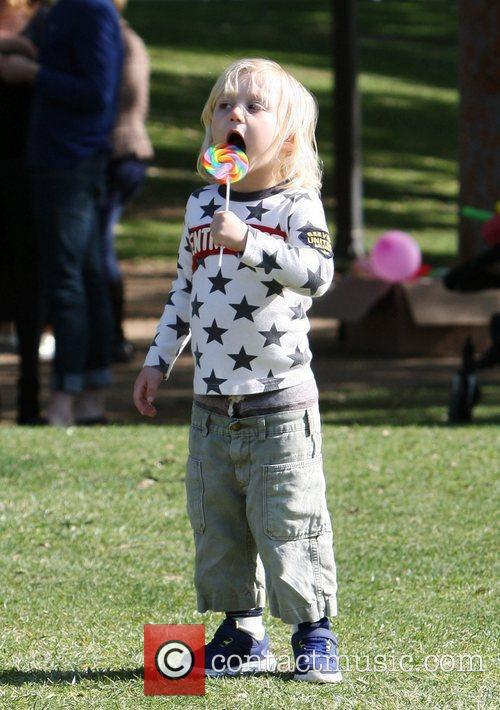 Zuma Rossdale spending the day in the park...