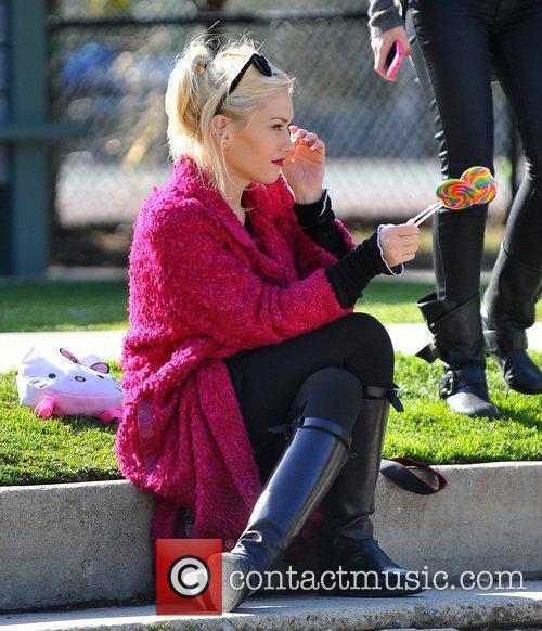 Gwen Stefani spends the day at a party...