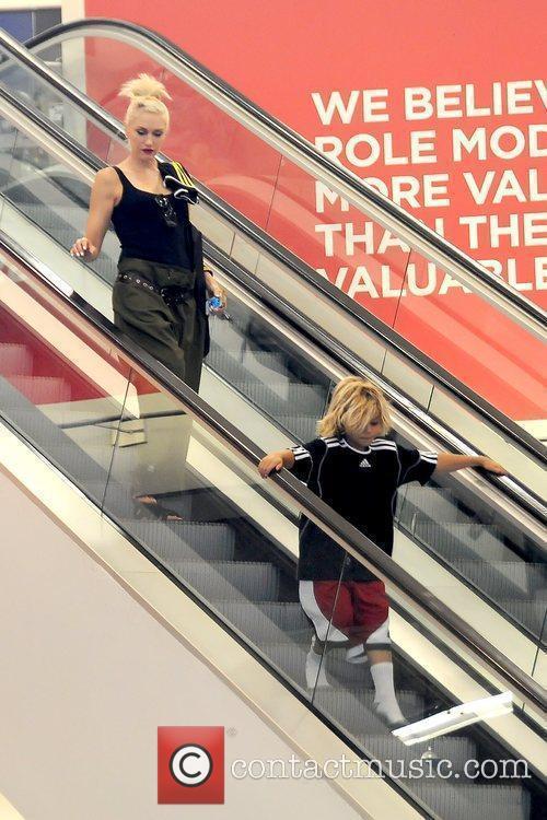 Gwen Stefani and Kingston Rossdale Gwen Stefani shopping...