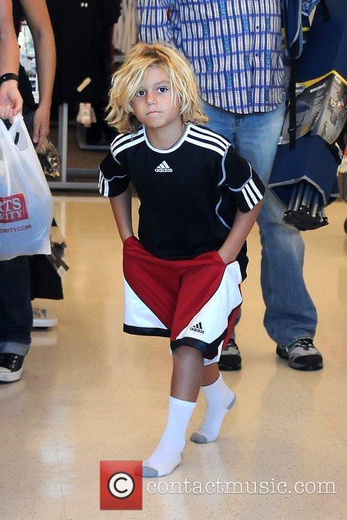 Kingston Rossdale walking on the floor of Sports...