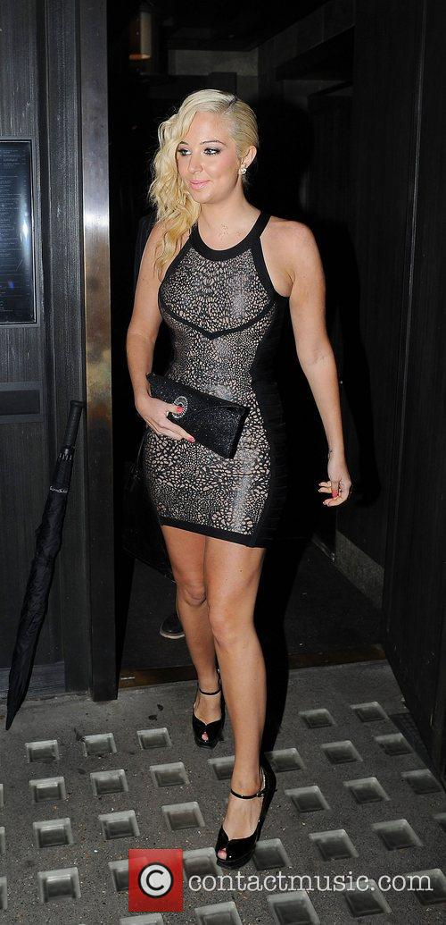 Tulisa Contostavlos, Hakkasan and Mayfair 11