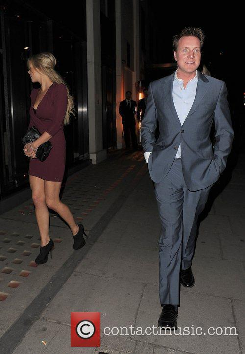 Henry Beckwith leaving Hakkasan restaurant in Mayfair with...