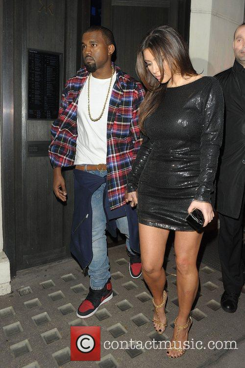 Kanye West, Kim Kardashian and Hakkasan 3