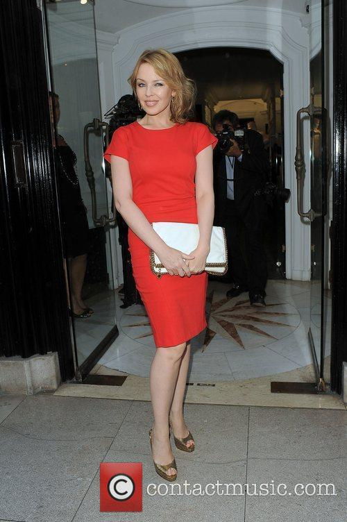 Kylie Minogue at the Halcyon Gallery after visting...
