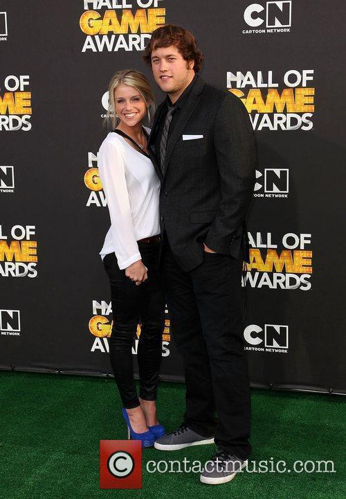 Matthew Stafford and Kelly Hall 2012 Cartoon Network...