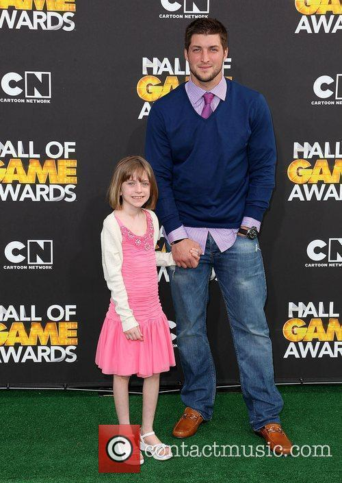Presley Collins and Tim Tebow 2012 Cartoon Network...