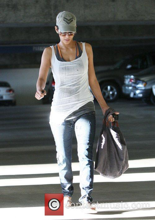 Halle Berry leaves a medical building in Santa...