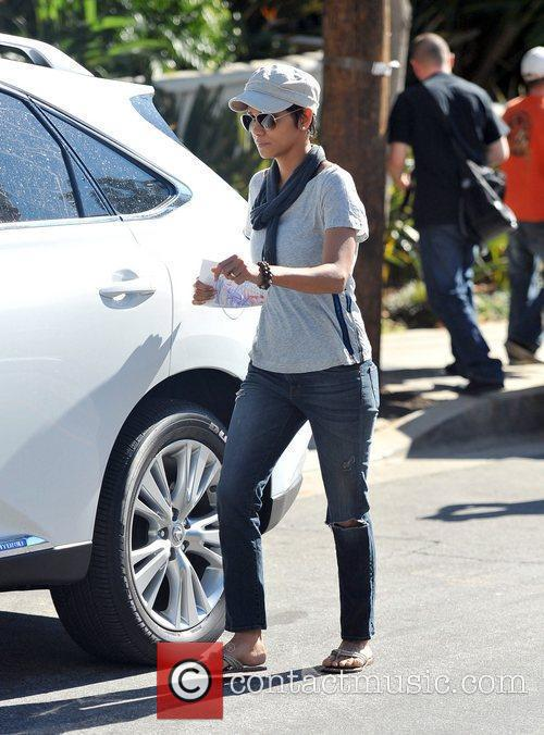 Halle Berry sports what might be an engagement...