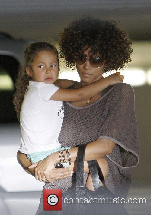 Halle Berry shopping with her daughter Nahla at...