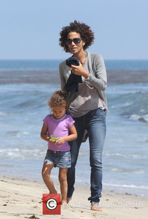 Halle Berry and Malibu Beach 2