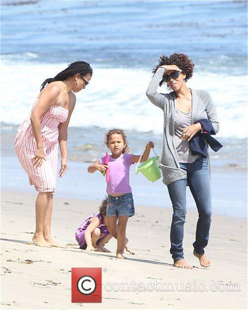 Halle Berry and Malibu Beach 3