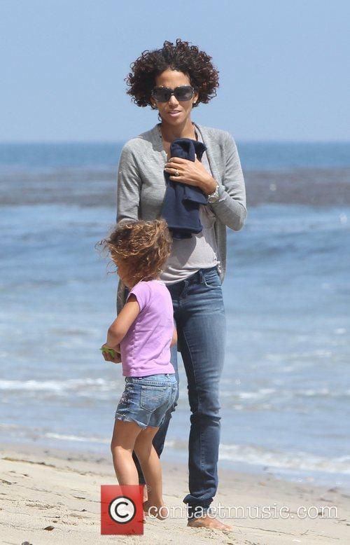 Halle Berry and Malibu Beach 4