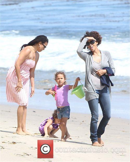 Halle Berry and Malibu Beach 1