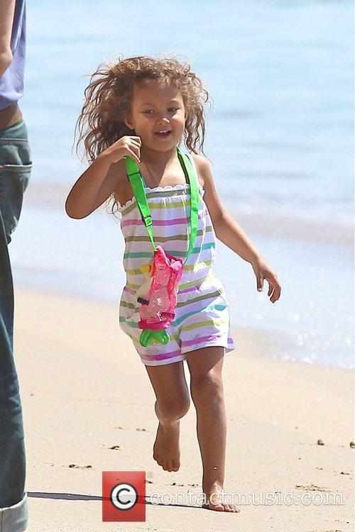 Playing on Malibu Beach