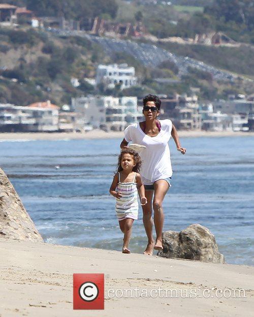 Halle Berry and Malibu Beach 5