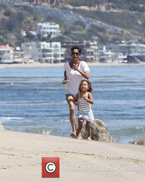 Halle Berry and Malibu Beach 7